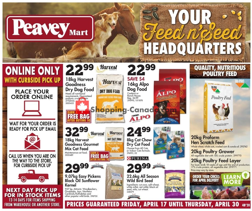Flyer Peavey Mart Canada - from Friday April 17, 2020 to Thursday April 30, 2020
