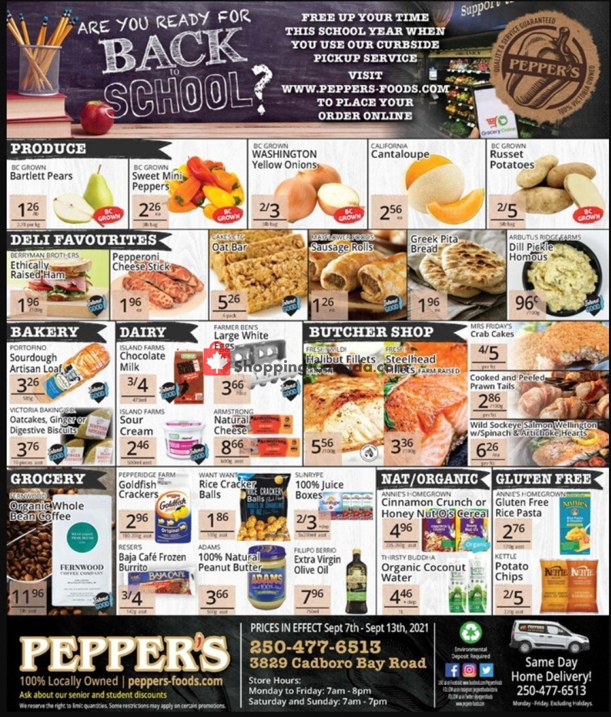 Flyer Pepper's Foods Canada - from Tuesday September 7, 2021 to Monday September 13, 2021