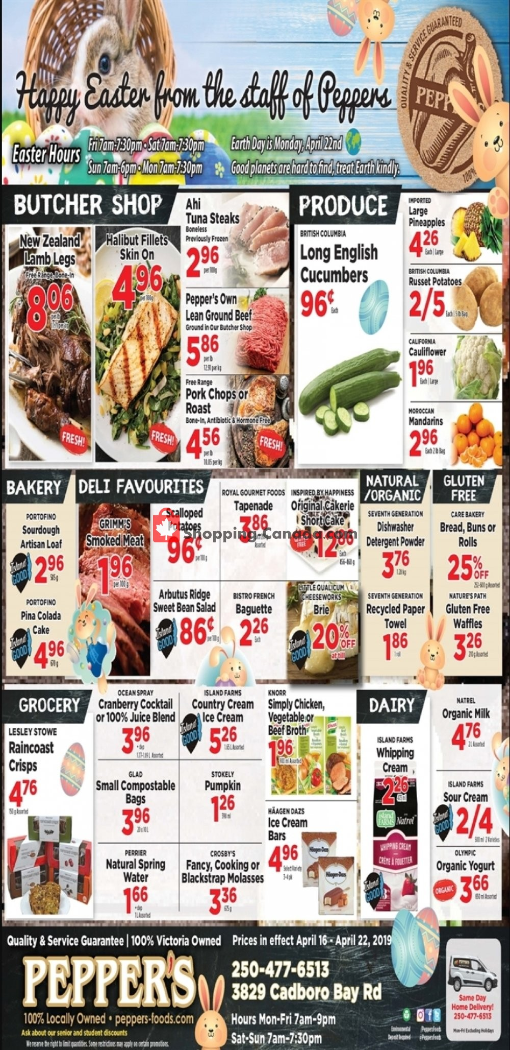 Flyer Pepper's Foods Canada - from Tuesday April 16, 2019 to Monday April 22, 2019