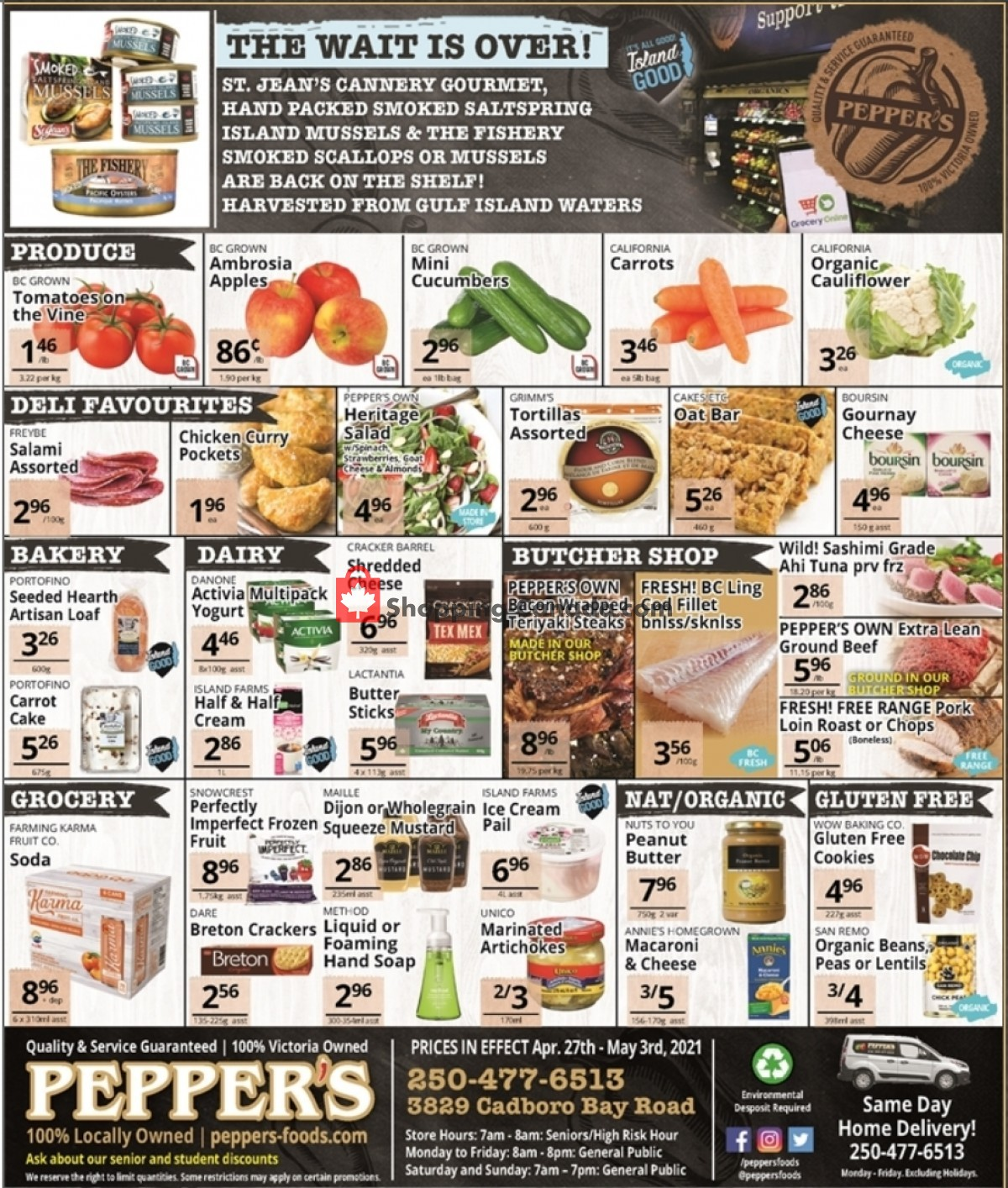 Flyer Pepper's Foods Canada - from Tuesday April 27, 2021 to Monday May 3, 2021
