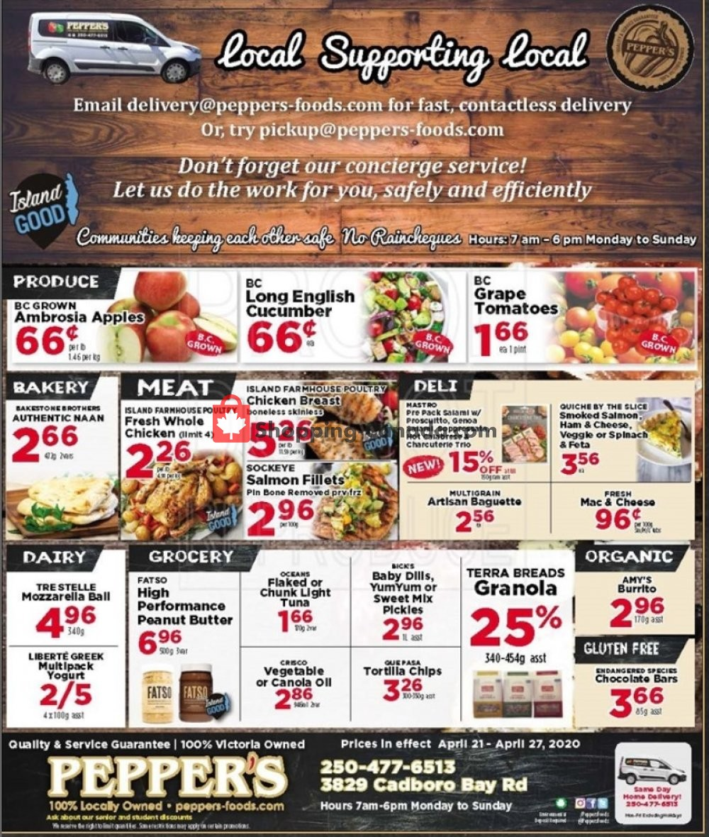 Flyer Pepper's Foods Canada - from Tuesday April 21, 2020 to Monday April 27, 2020