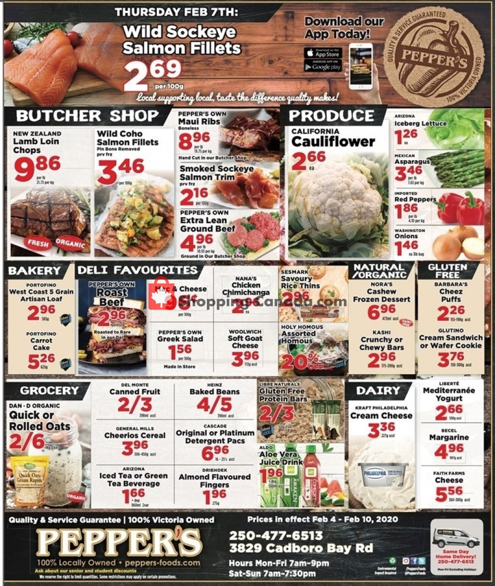 Flyer Pepper's Foods Canada - from Tuesday February 4, 2020 to Monday February 10, 2020