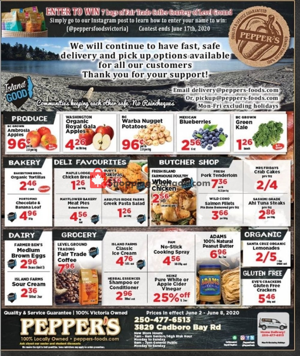 Flyer Pepper's Foods Canada - from Tuesday June 2, 2020 to Monday June 8, 2020
