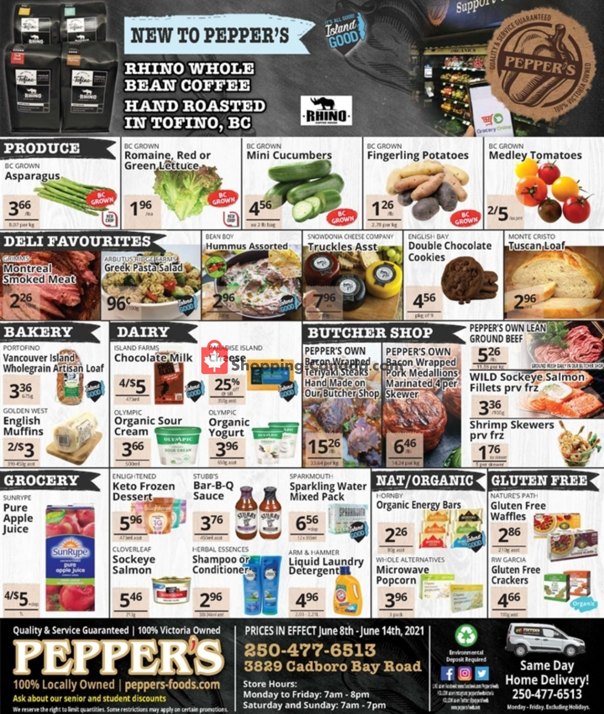Flyer Pepper's Foods Canada - from Tuesday June 8, 2021 to Monday June 14, 2021