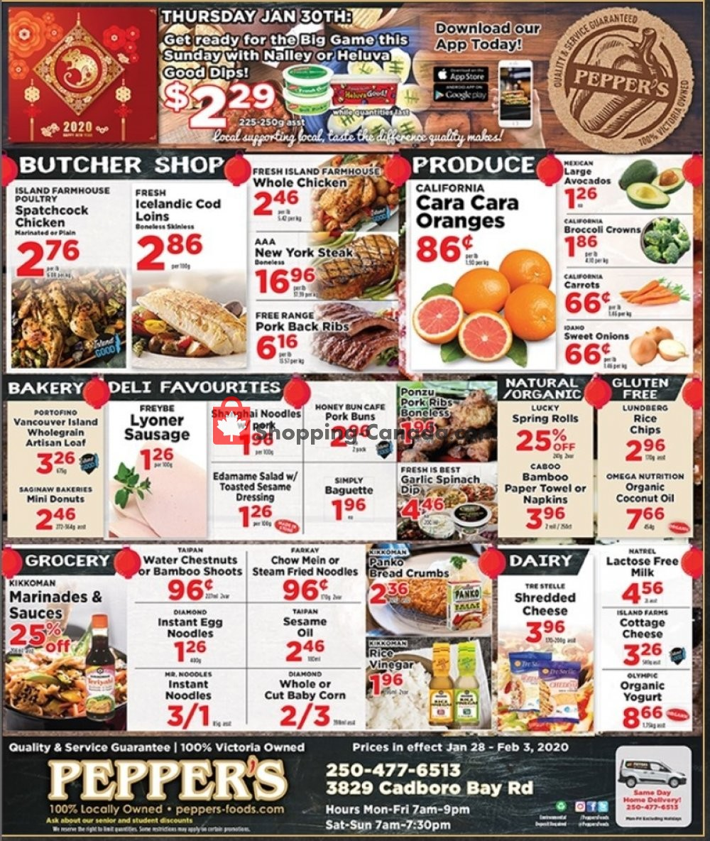 Flyer Pepper's Foods Canada - from Tuesday January 28, 2020 to Monday February 3, 2020