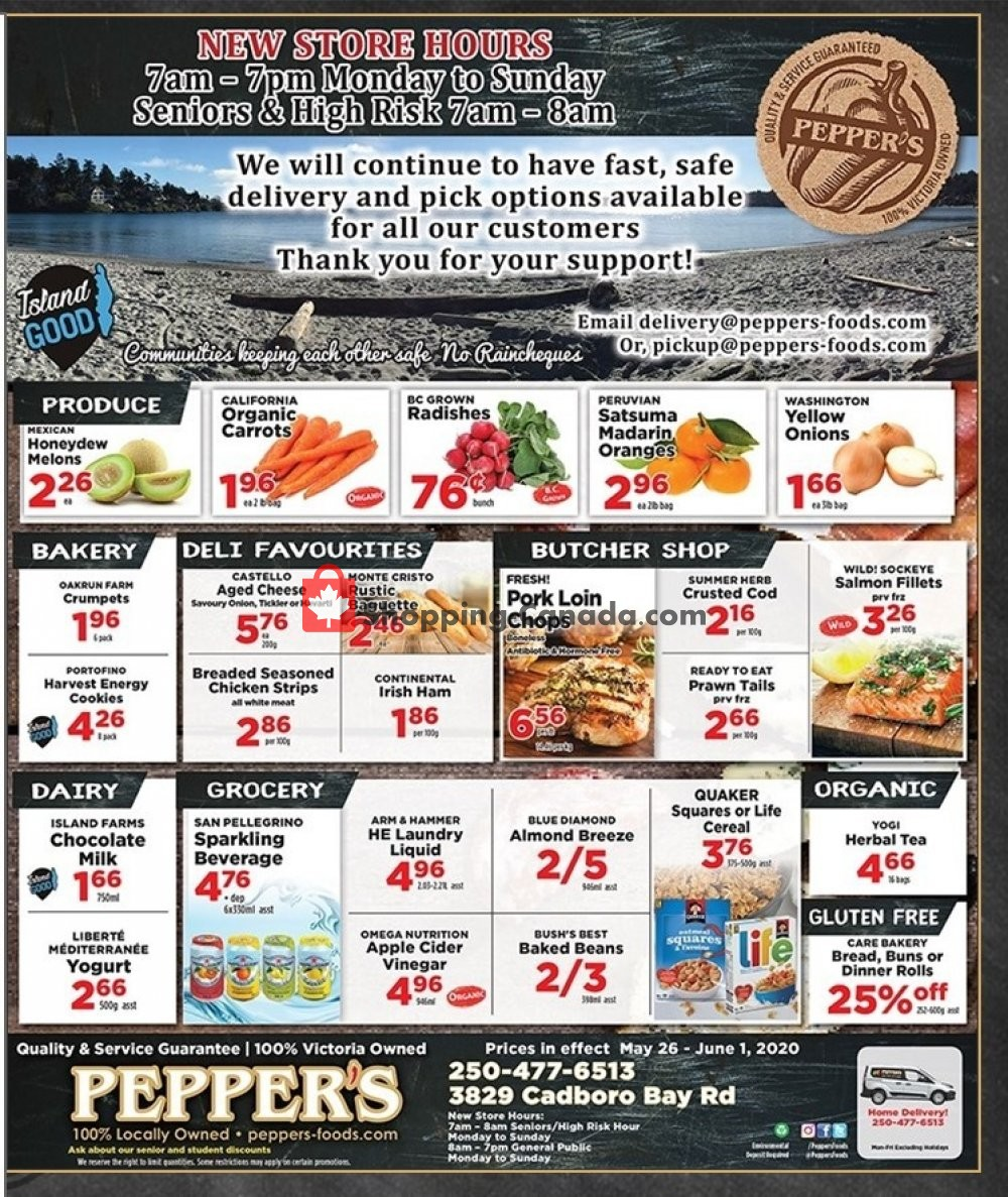 Flyer Pepper's Foods Canada - from Tuesday May 26, 2020 to Monday June 1, 2020
