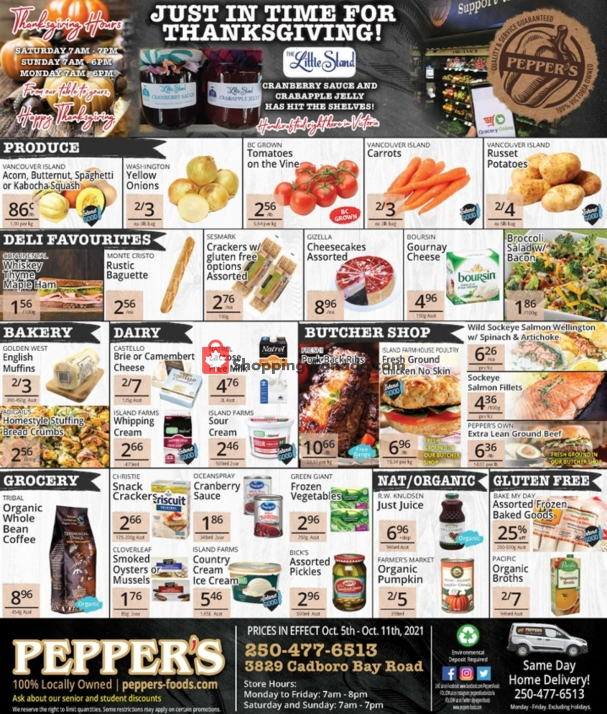 Flyer Pepper's Foods Canada - from Tuesday October 5, 2021 to Monday October 11, 2021