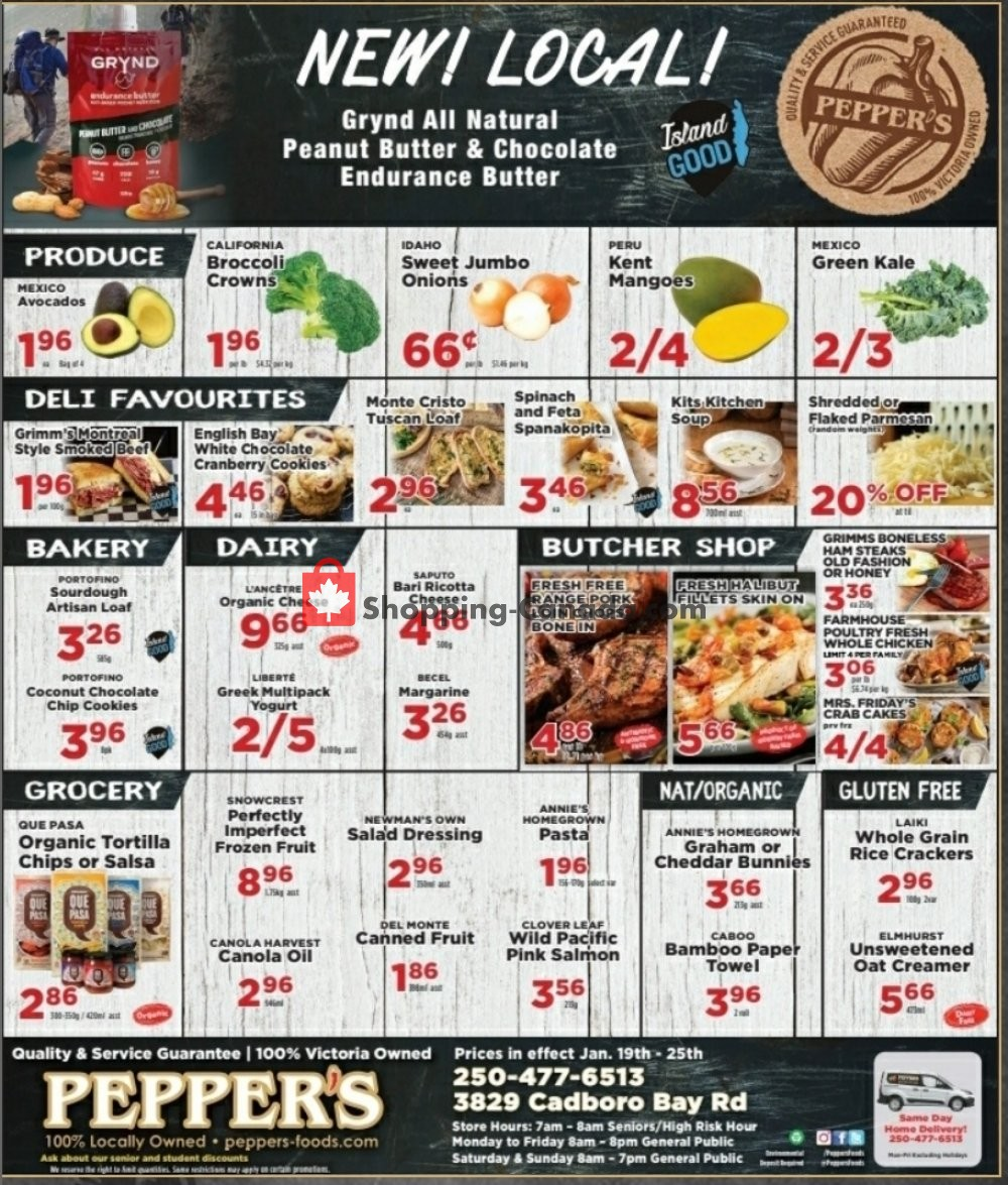 Flyer Pepper's Foods Canada - from Tuesday January 19, 2021 to Monday January 25, 2021