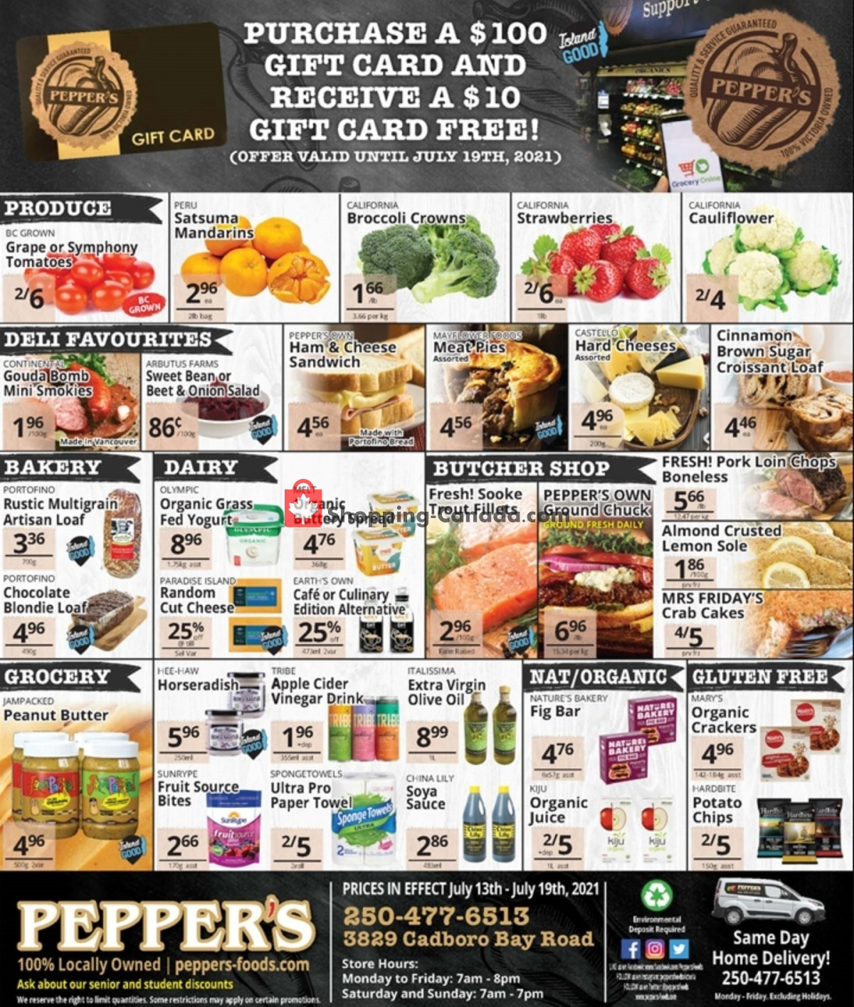 Flyer Pepper's Foods Canada - from Tuesday July 13, 2021 to Monday July 19, 2021