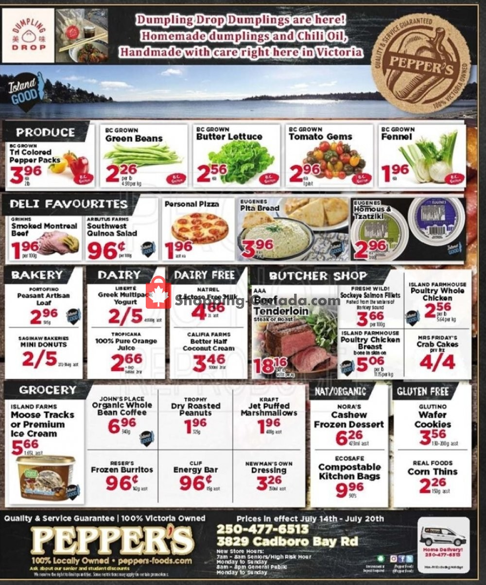 Flyer Pepper's Foods Canada - from Tuesday July 14, 2020 to Monday July 20, 2020