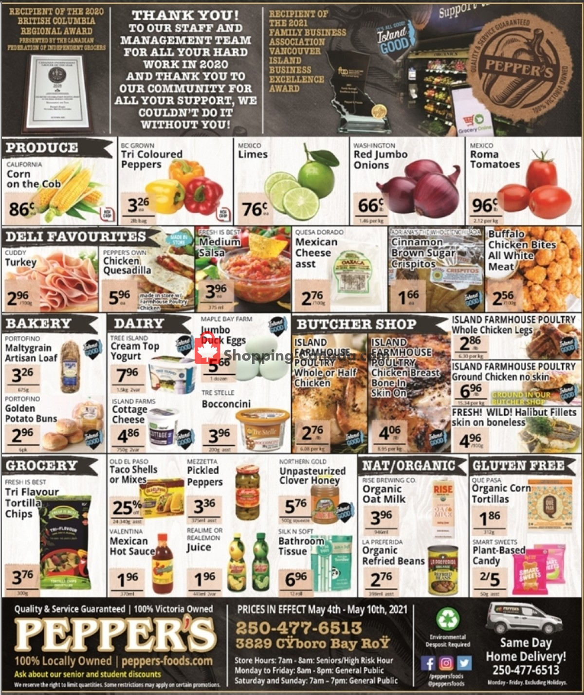 Flyer Pepper's Foods Canada - from Tuesday May 4, 2021 to Monday May 10, 2021