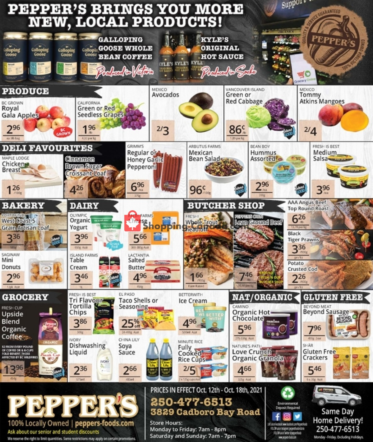 Flyer Pepper's Foods Canada - from Tuesday October 12, 2021 to Monday October 18, 2021