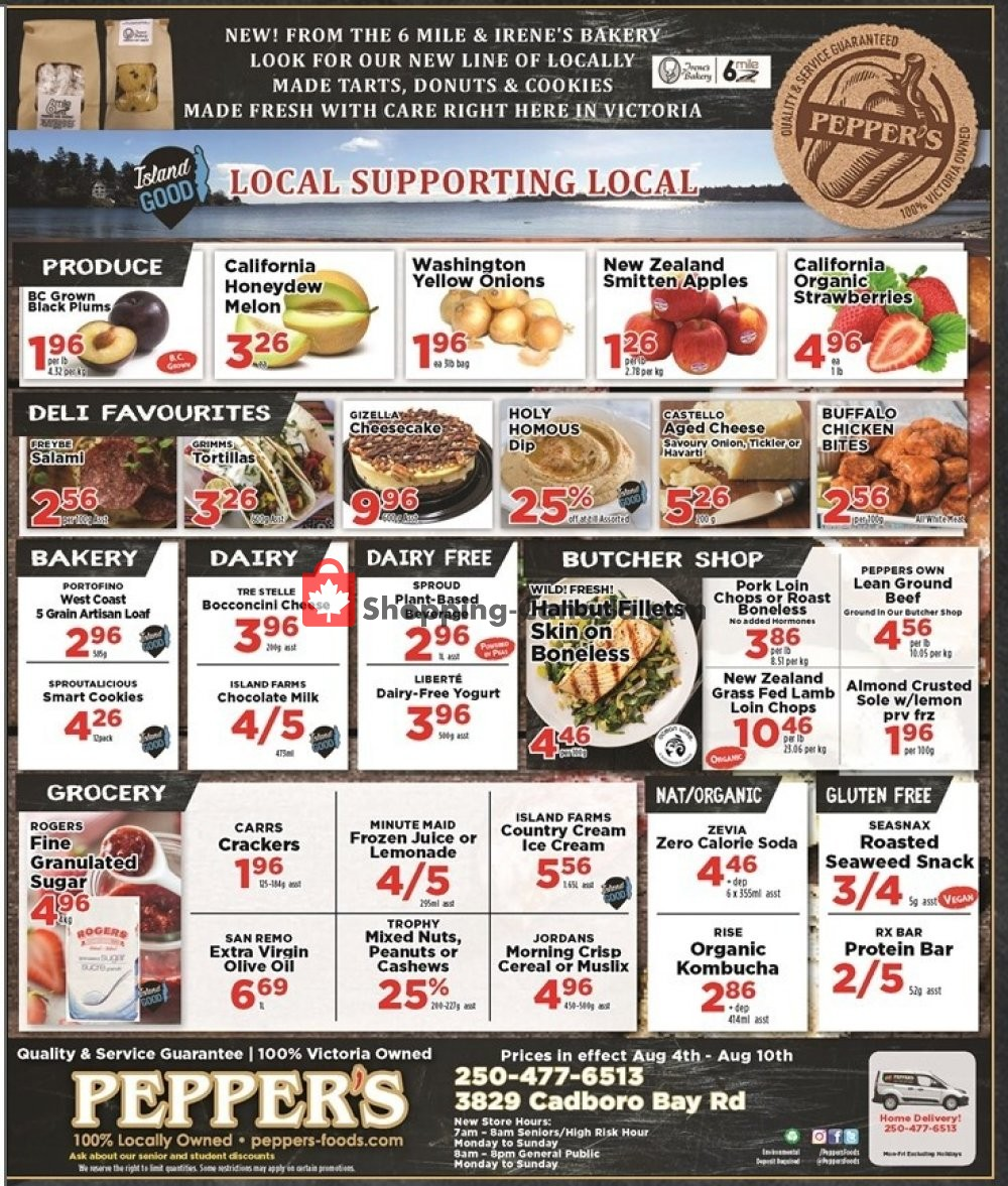 Flyer Pepper's Foods Canada - from Tuesday August 4, 2020 to Monday August 10, 2020