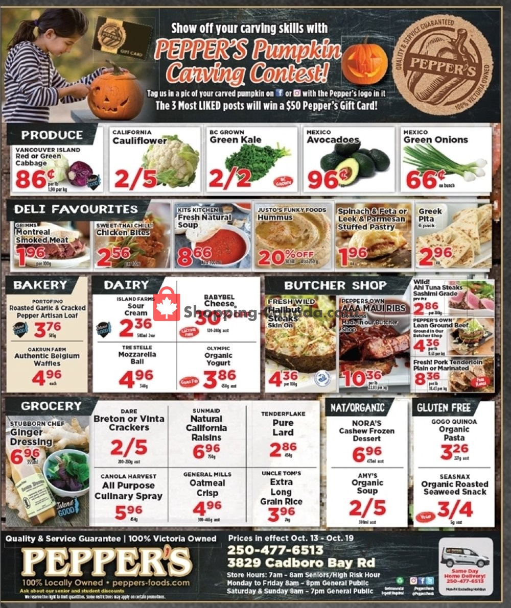 Flyer Pepper's Foods Canada - from Tuesday October 13, 2020 to Monday October 19, 2020