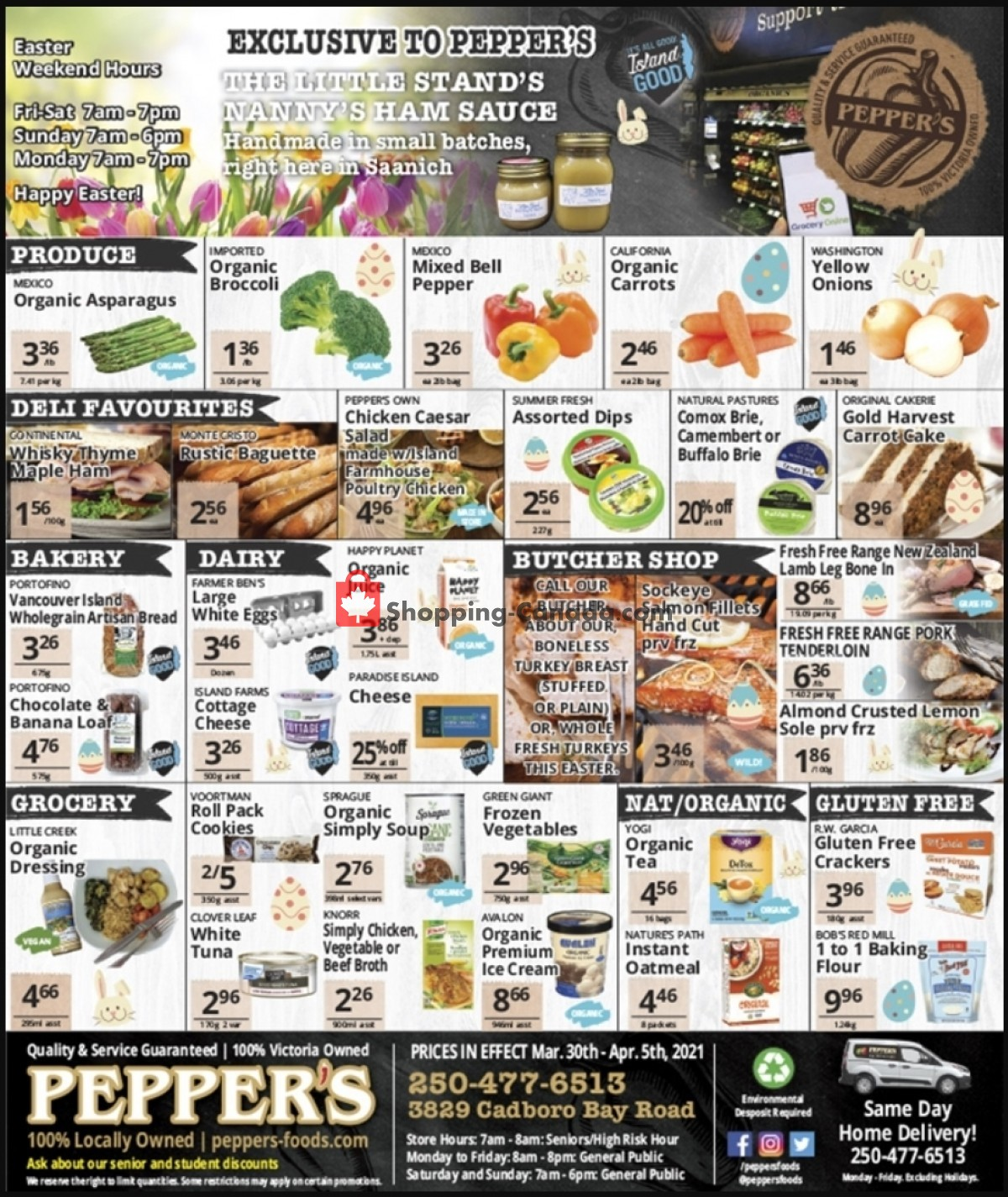 Flyer Pepper's Foods Canada - from Tuesday March 30, 2021 to Monday April 5, 2021