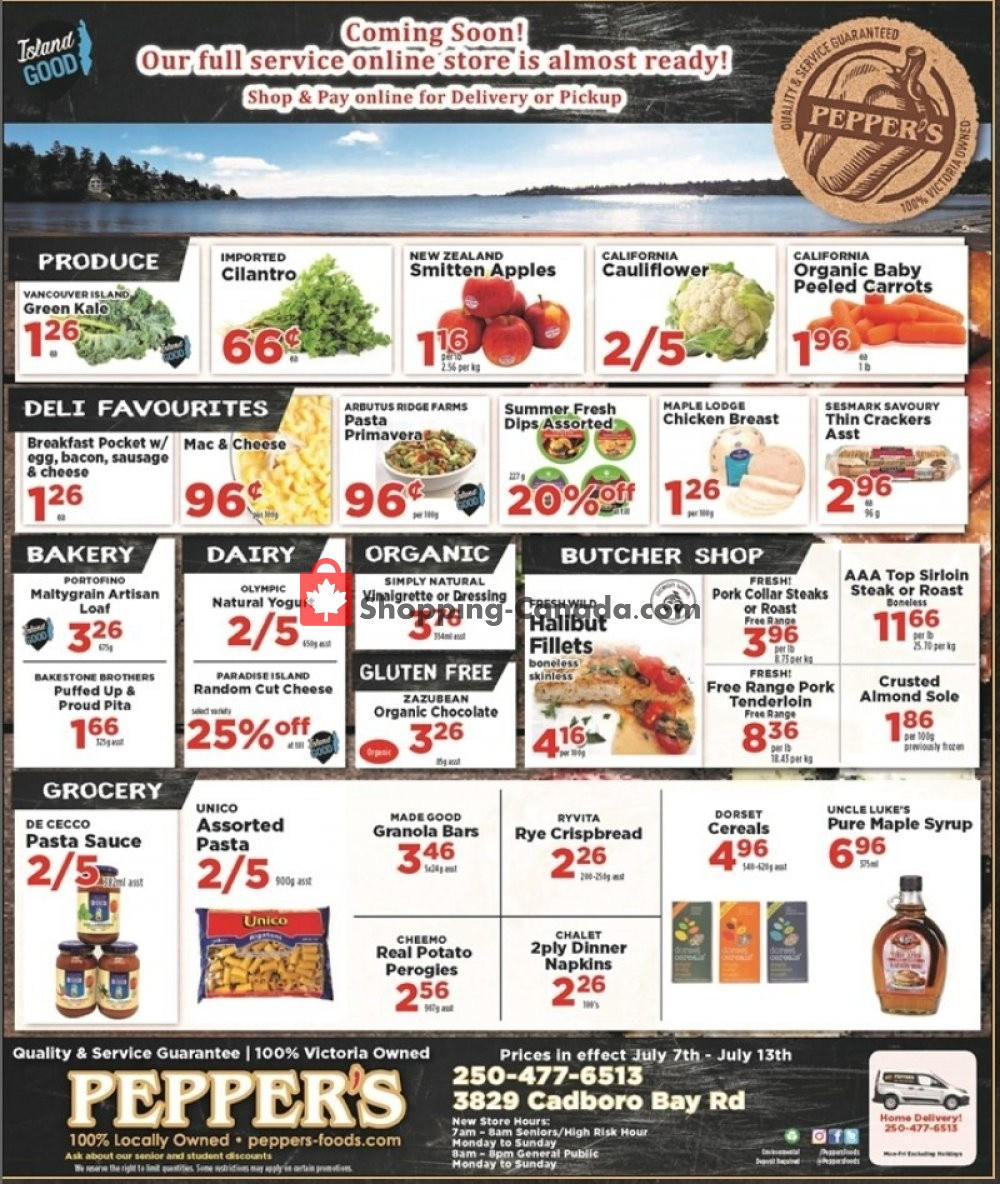 Flyer Pepper's Foods Canada - from Tuesday July 7, 2020 to Monday July 13, 2020