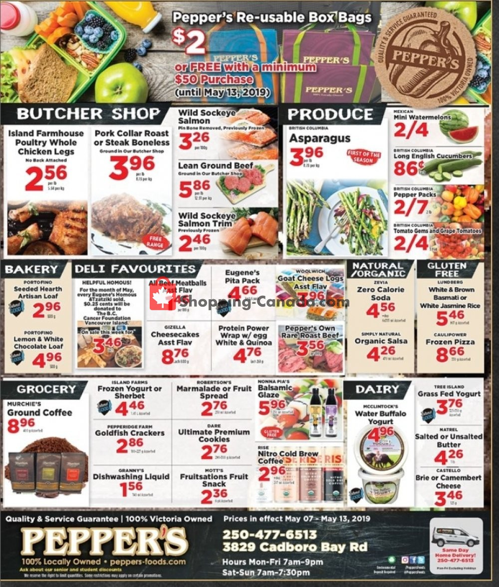 Flyer Pepper's Foods Canada - from Tuesday May 7, 2019 to Monday May 13, 2019