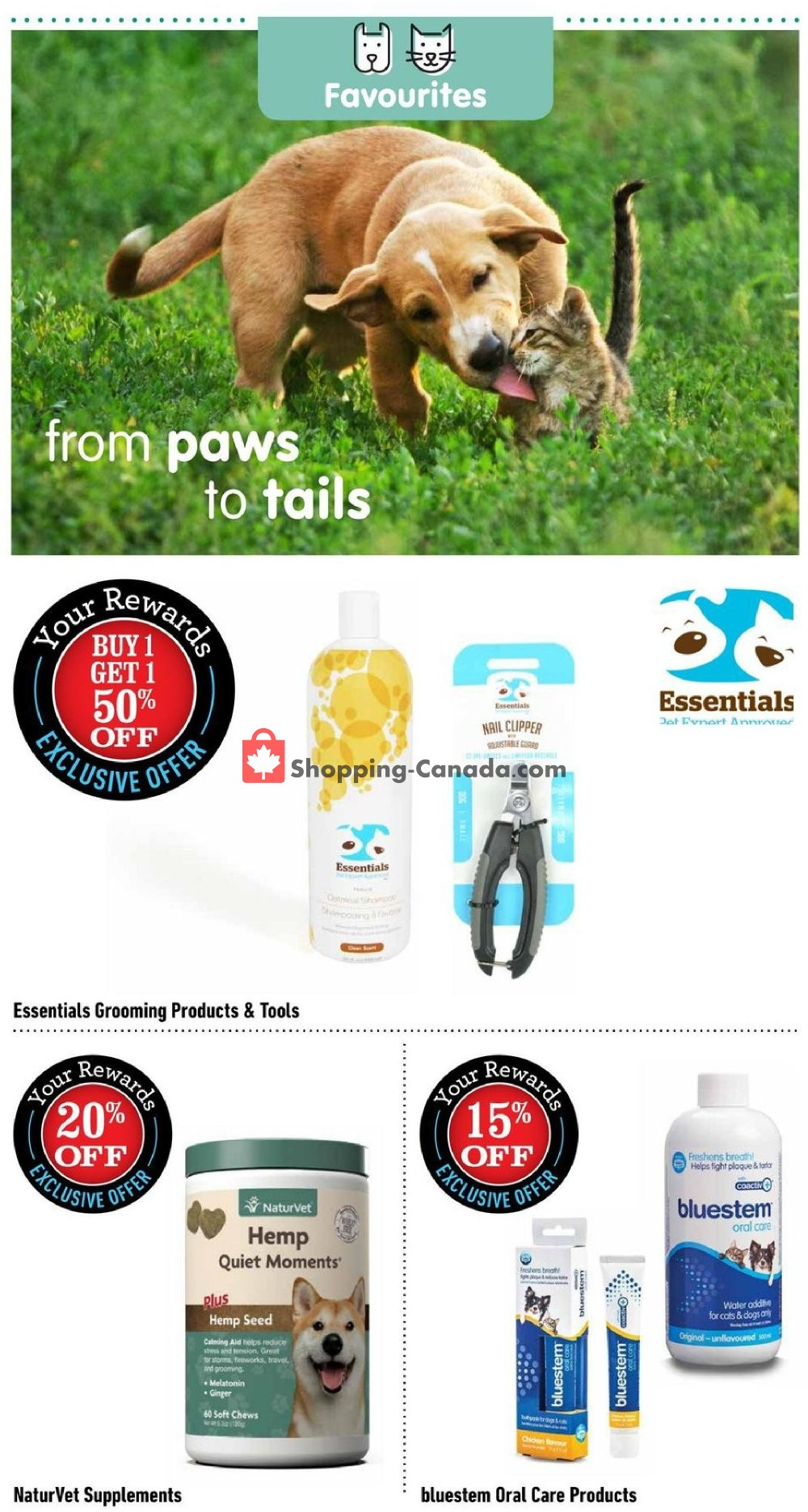 Flyer Pet Valu Canada - from Monday August 12, 2019 to Wednesday September 4, 2019