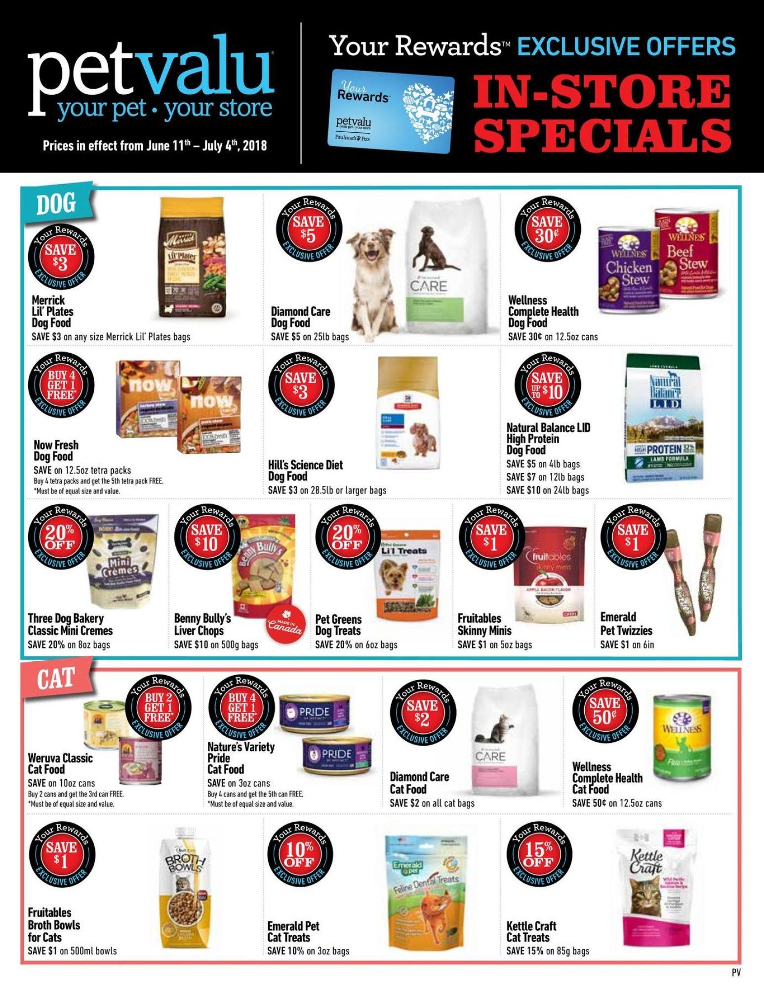 Pet Valu Canada Flyer June 11 July 4 2018 Shopping Canada