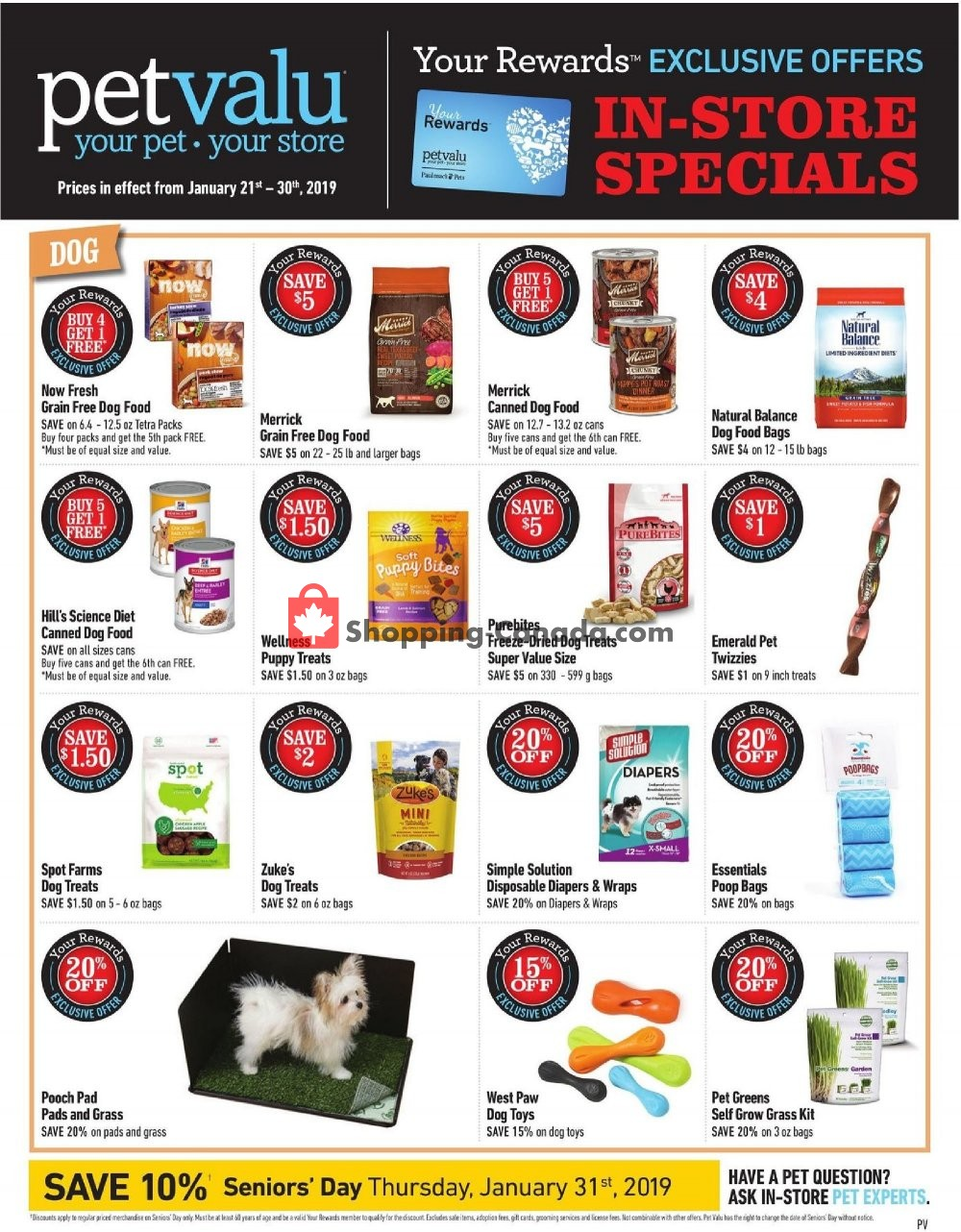 Flyer Pet Valu Canada - from Monday January 21, 2019 to Wednesday January 30, 2019