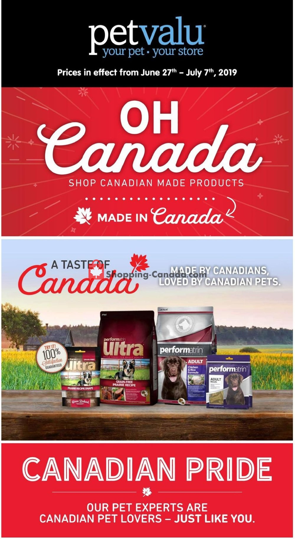 Flyer Pet Valu Canada - from Thursday June 27, 2019 to Sunday July 7, 2019