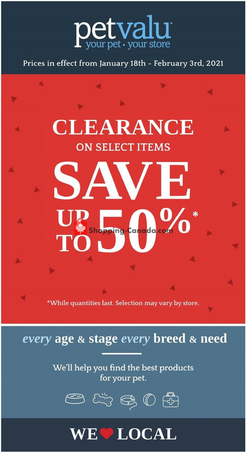 Flyer Pet Valu Canada - from Monday January 18, 2021 to Wednesday February 3, 2021