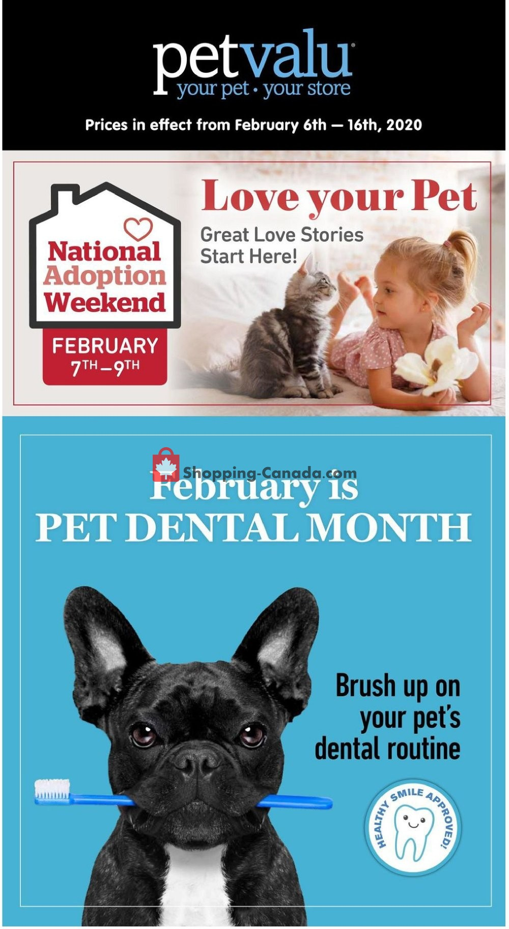 Flyer Pet Valu Canada - from Thursday February 6, 2020 to Sunday February 16, 2020