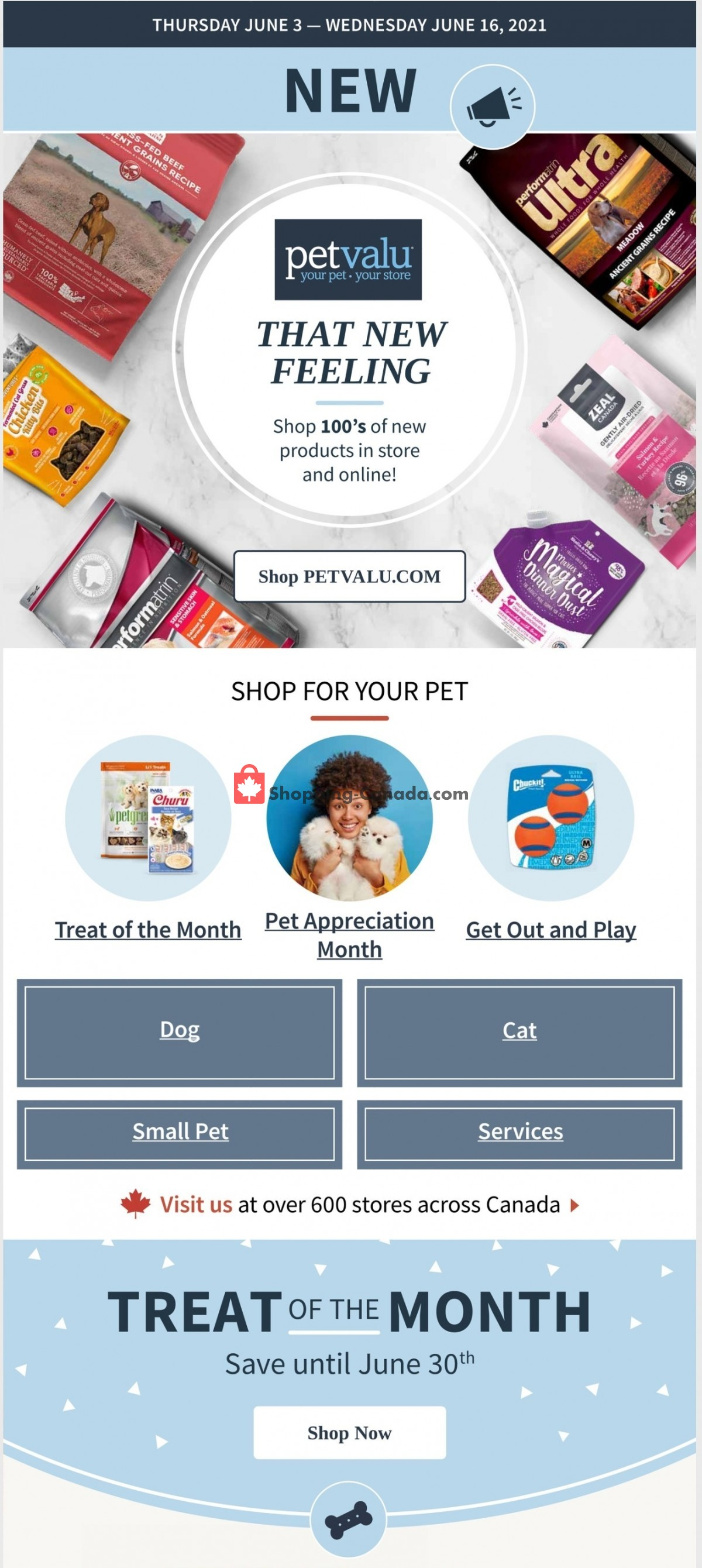 Flyer Pet Valu Canada - from Thursday June 3, 2021 to Wednesday June 16, 2021