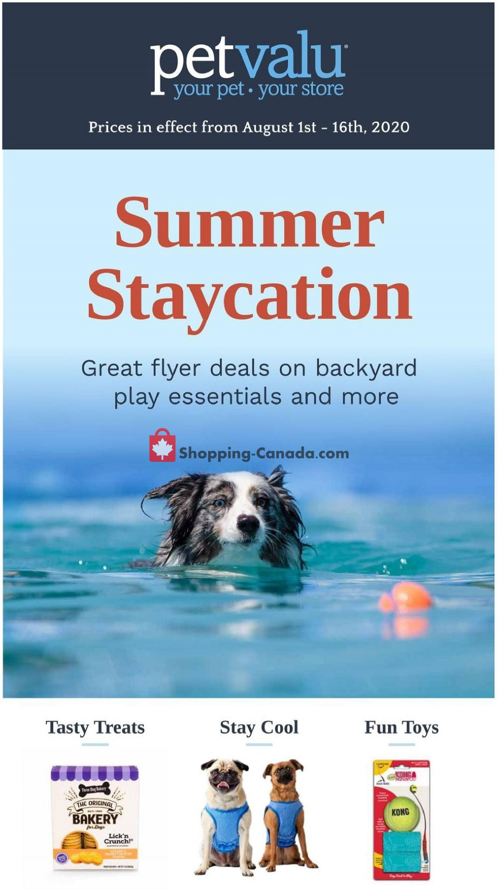 Flyer Pet Valu Canada - from Saturday August 1, 2020 to Sunday August 16, 2020