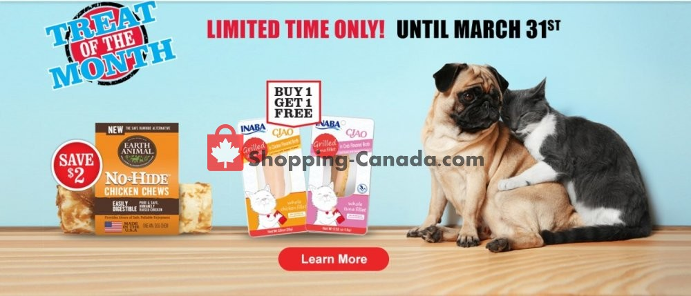 Flyer Pet Valu Canada - from Friday March 1, 2019 to Sunday March 31, 2019