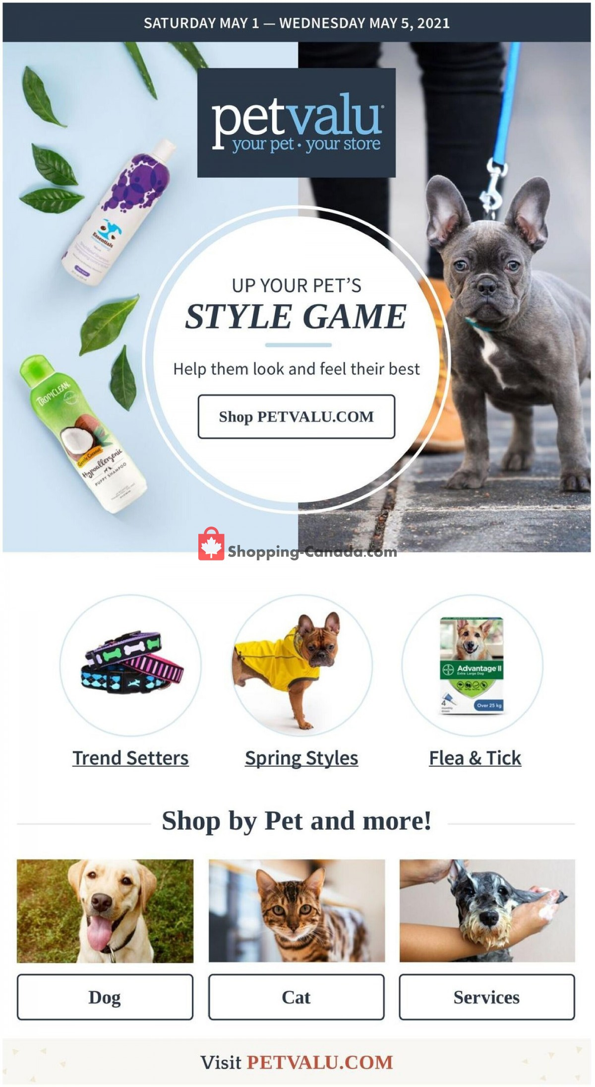 Flyer Pet Valu Canada - from Saturday May 1, 2021 to Wednesday May 5, 2021