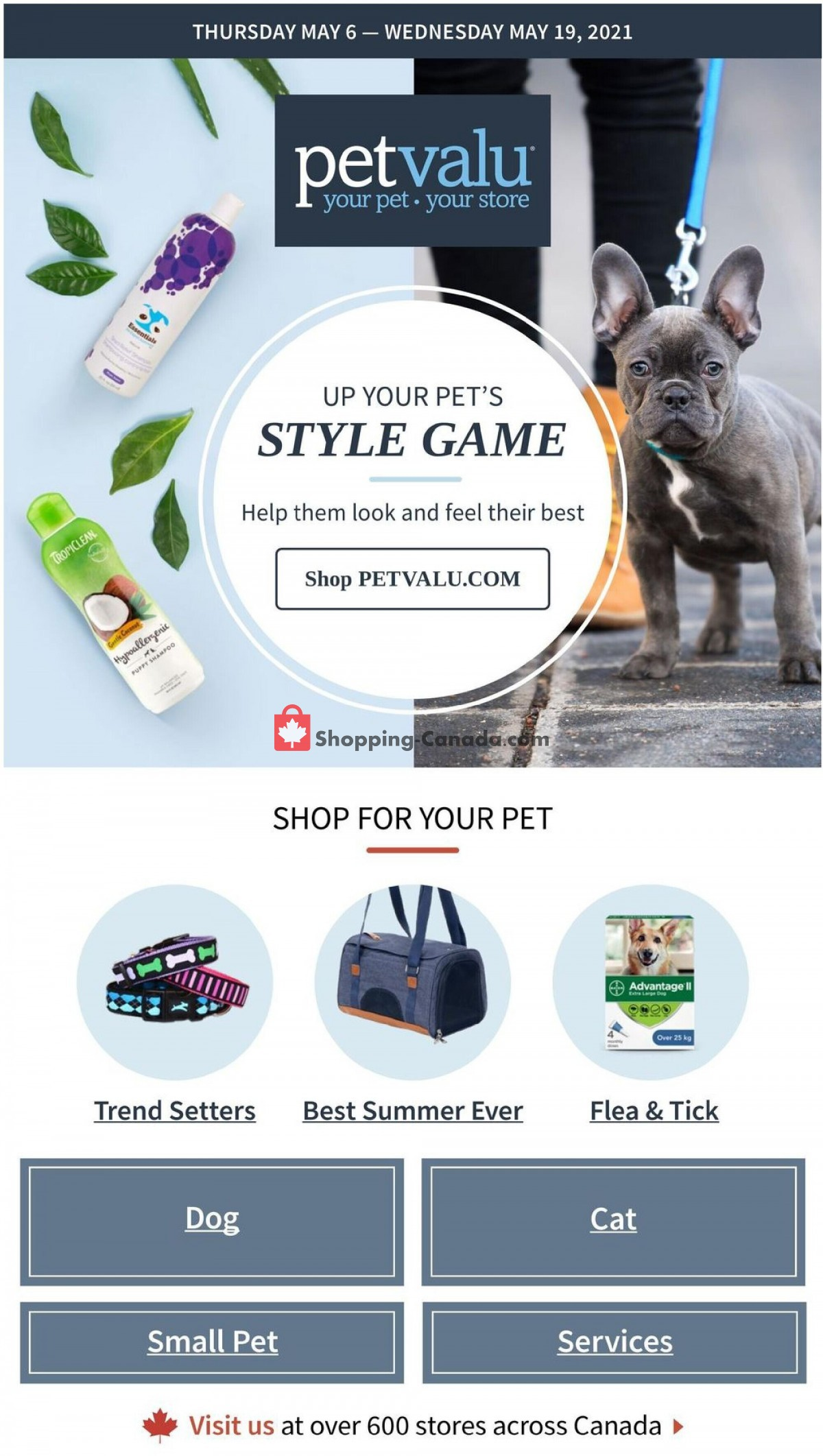 Flyer Pet Valu Canada - from Thursday May 6, 2021 to Wednesday May 19, 2021