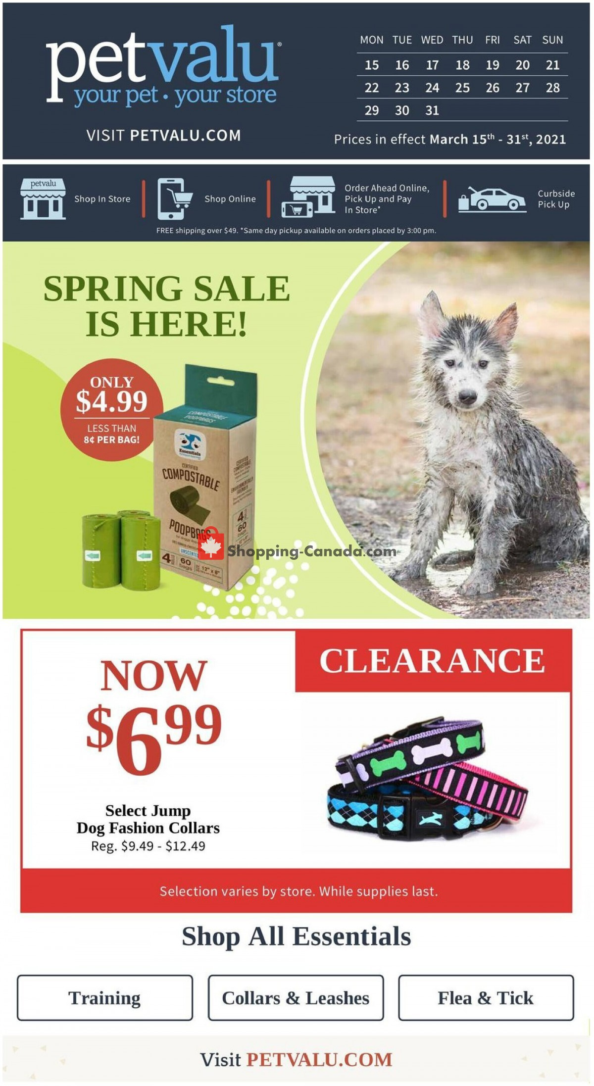 Flyer Pet Valu Canada - from Monday March 15, 2021 to Wednesday March 31, 2021