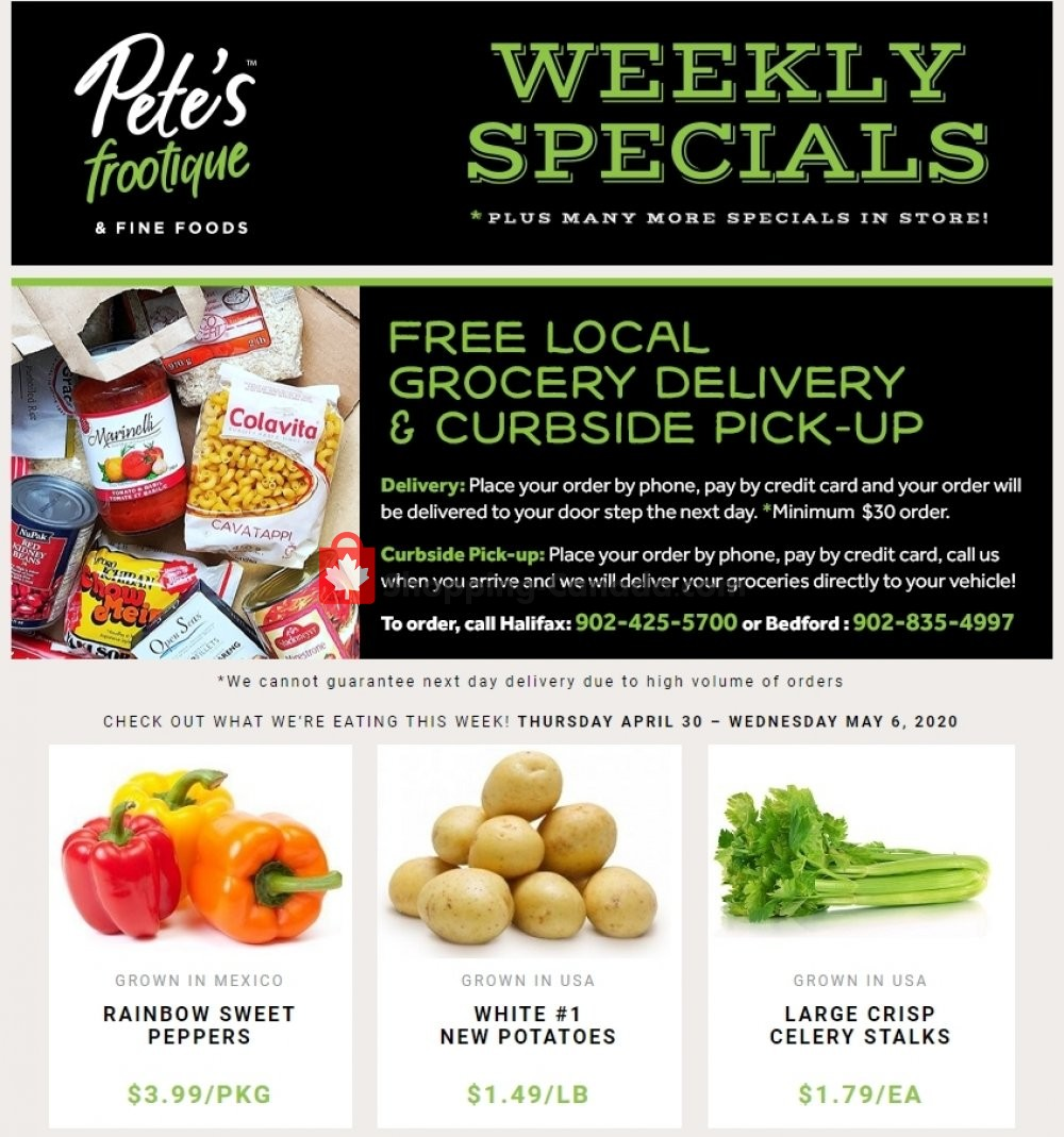Flyer Pete's Fine Foods Canada - from Thursday April 30, 2020 to Wednesday May 6, 2020