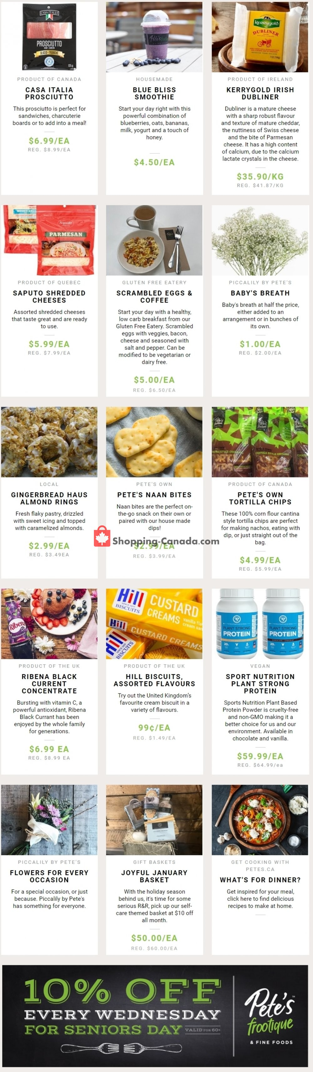 Flyer Pete's Fine Foods Canada - from Thursday January 9, 2020 to Wednesday January 15, 2020
