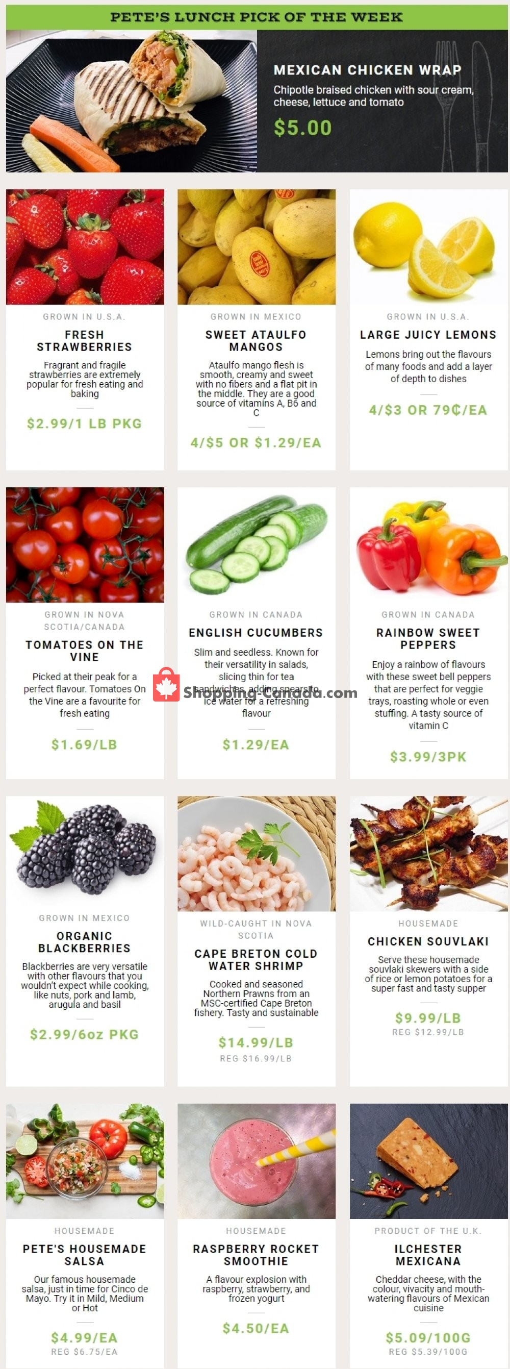 Flyer Pete's Fine Foods Canada - from Thursday May 2, 2019 to Wednesday May 8, 2019