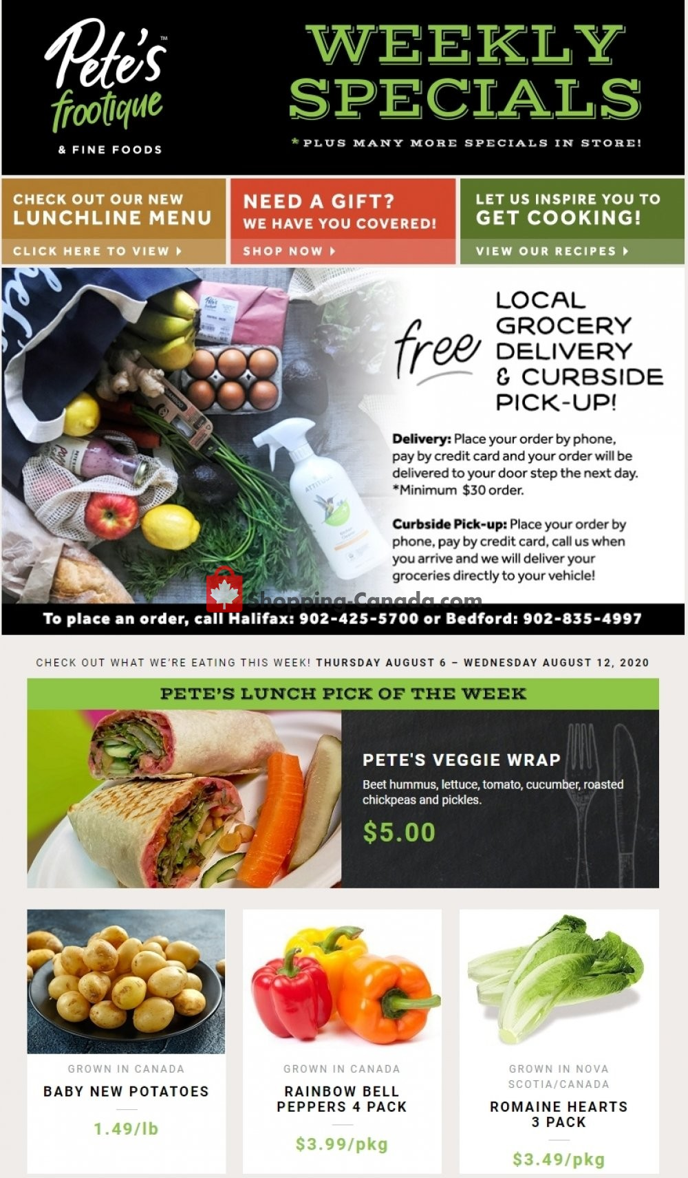 Flyer Pete's Fine Foods Canada - from Thursday August 6, 2020 to Wednesday August 12, 2020