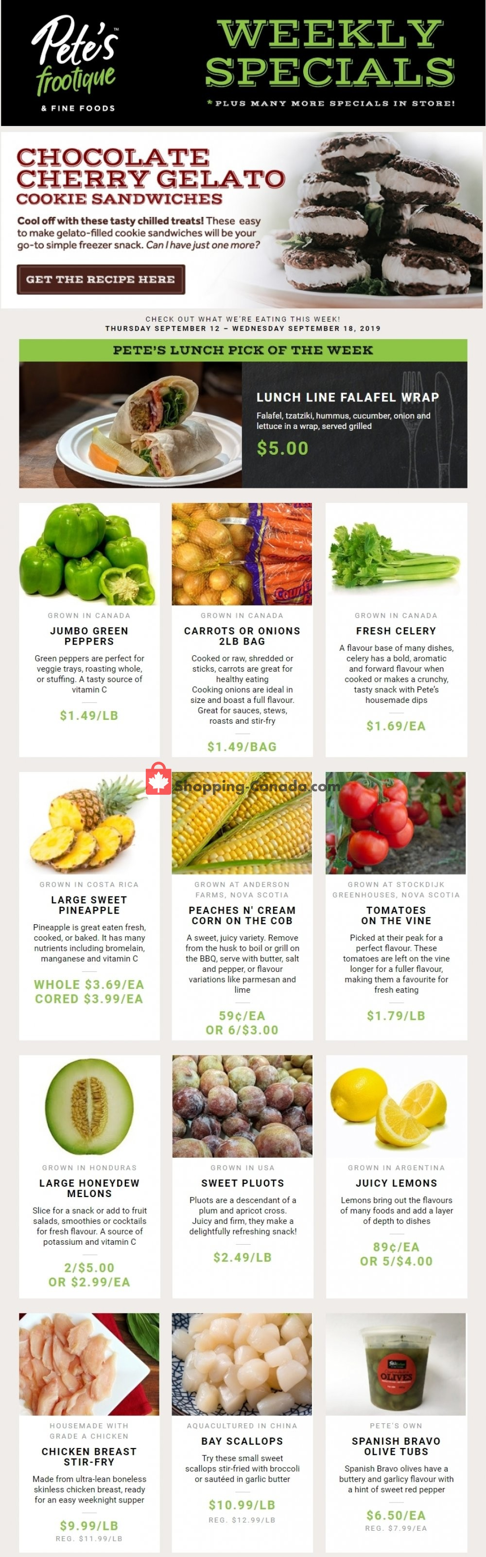 Flyer Pete's Fine Foods Canada - from Thursday September 12, 2019 to Wednesday September 18, 2019
