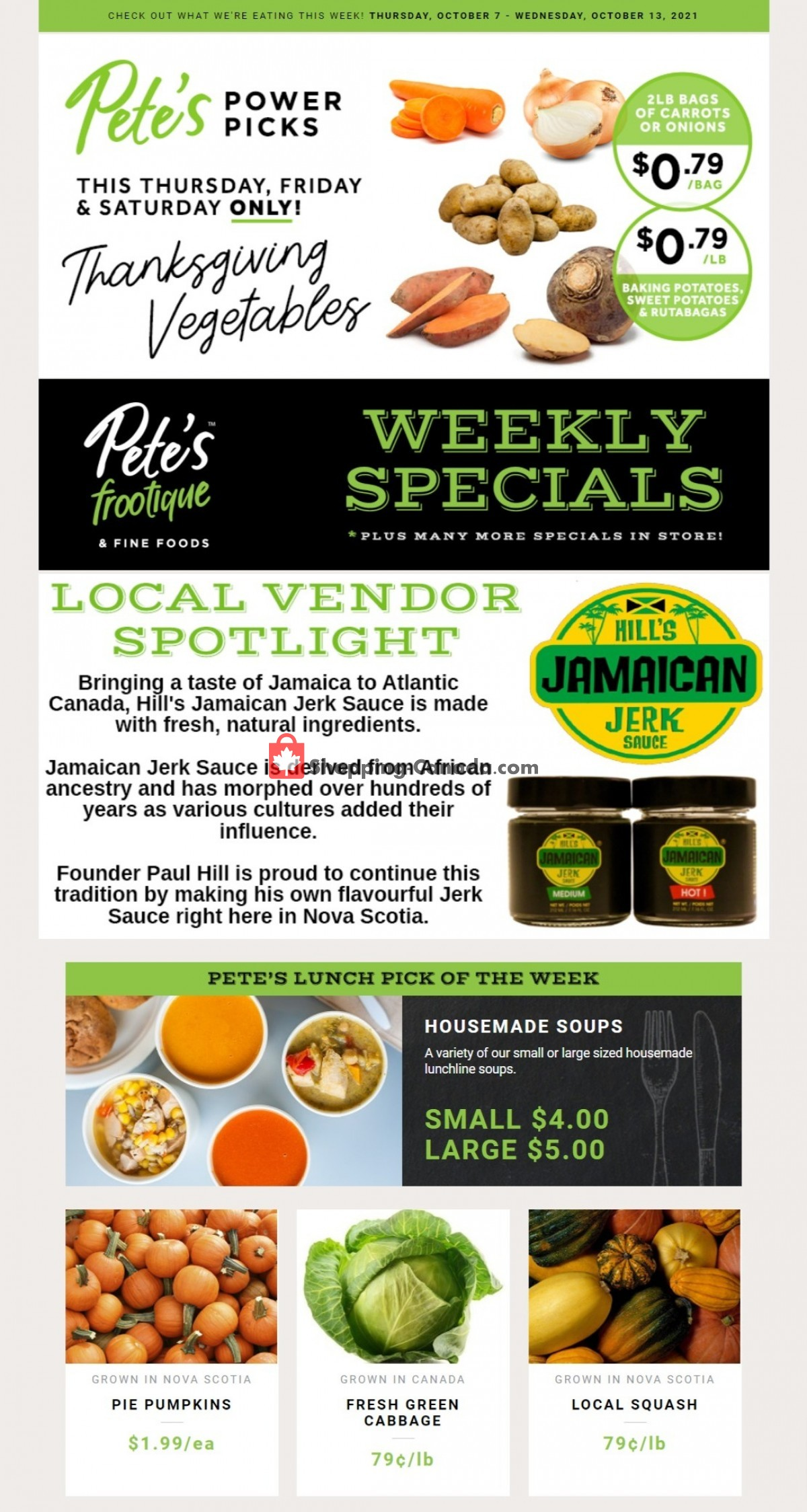Flyer Pete's Fine Foods Canada - from Thursday October 7, 2021 to Wednesday October 13, 2021
