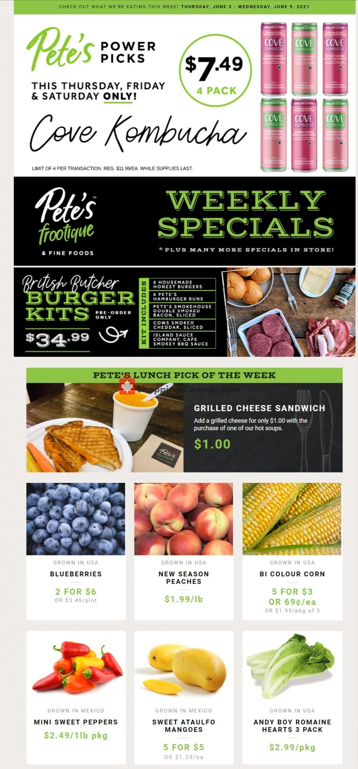Flyer Pete's Fine Foods Canada - from Thursday June 3, 2021 to Wednesday June 9, 2021