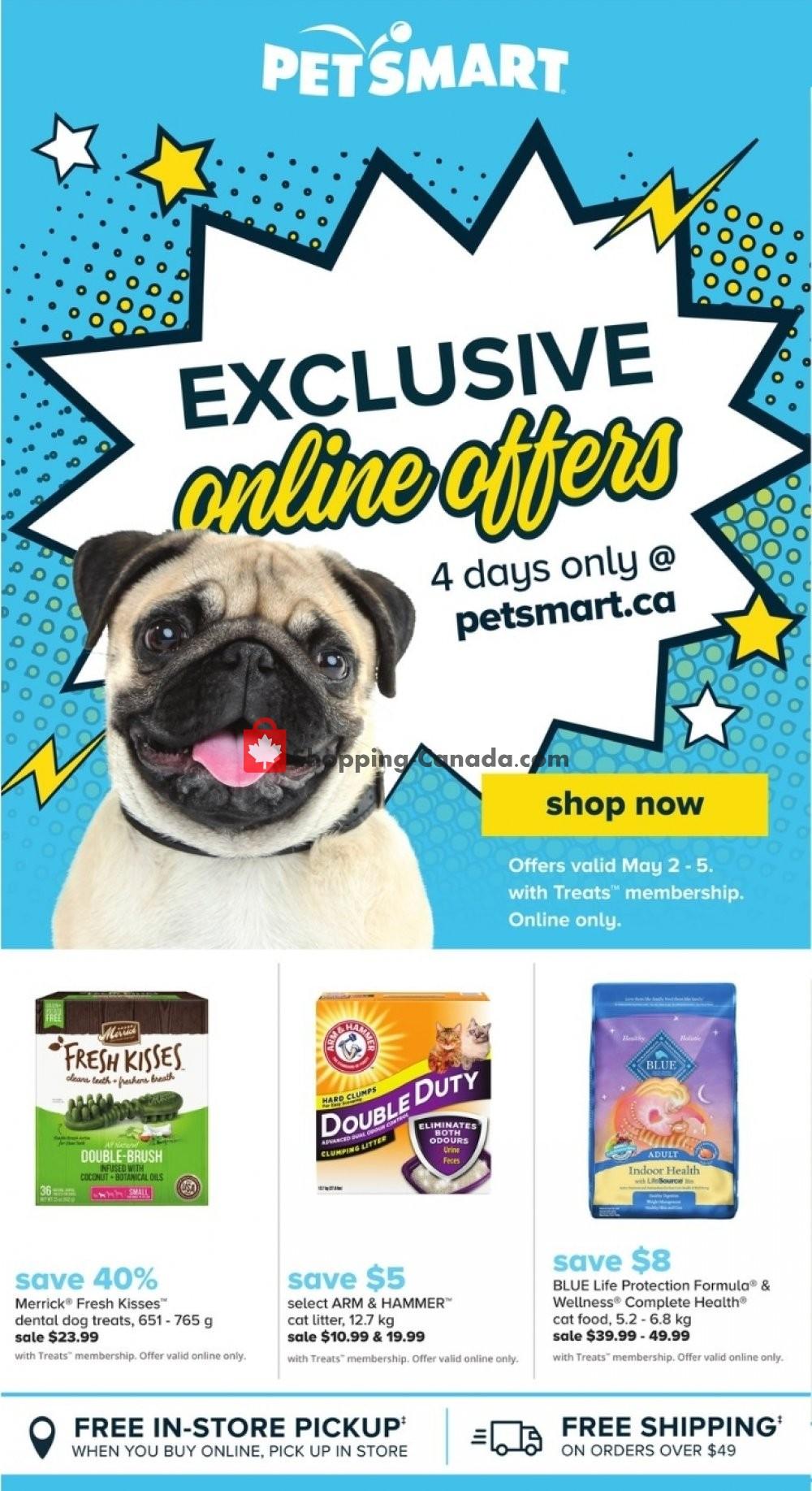 Flyer PetSmart Canada - from Thursday May 2, 2019 to Sunday May 5, 2019