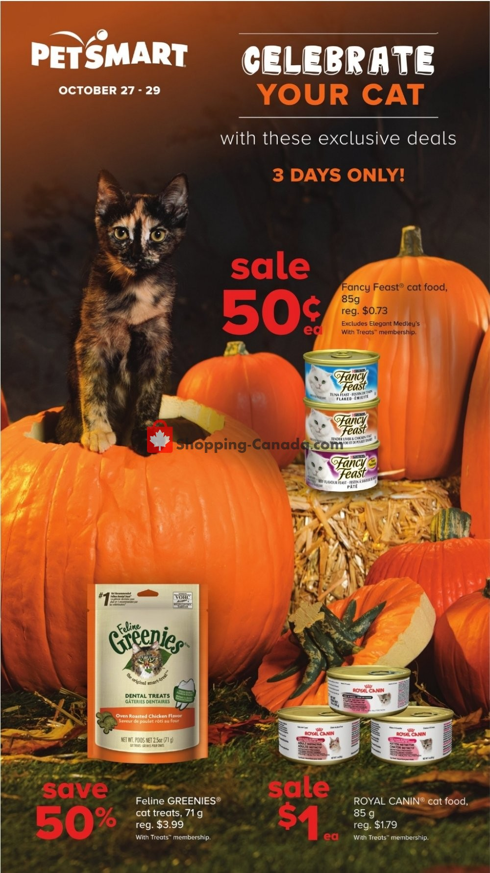 Flyer PetSmart Canada - from Saturday October 27, 2018 to Monday October 29, 2018