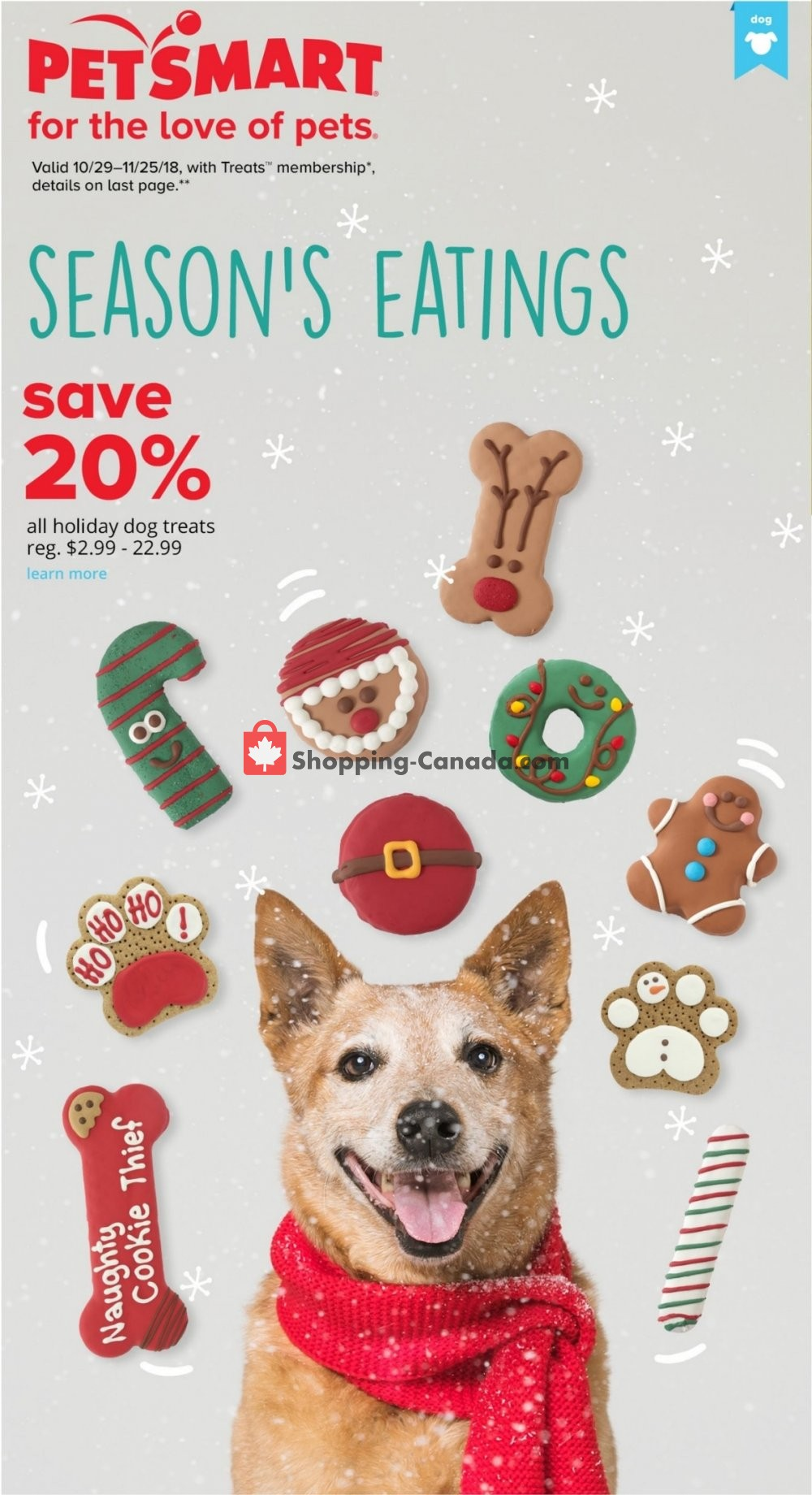 Flyer PetSmart Canada - from Monday October 29, 2018 to Sunday November 25, 2018