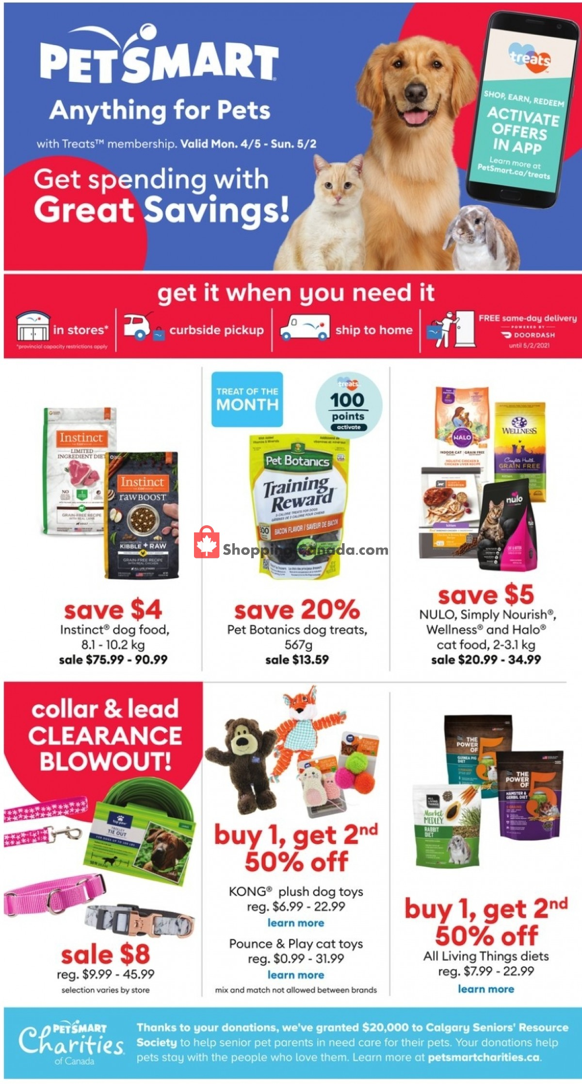 Flyer PetSmart Canada - from Monday April 5, 2021 to Sunday May 2, 2021
