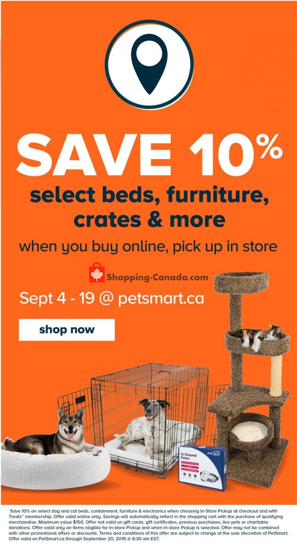 Flyer PetSmart Canada - from Wednesday September 4, 2019 to Sunday October 6, 2019