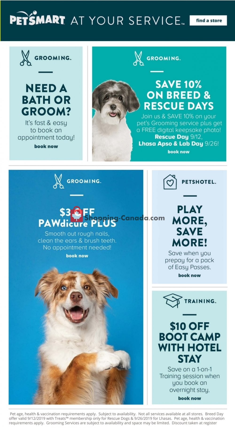 Flyer PetSmart Canada - from Wednesday September 4, 2019 to Sunday October 6, 2019
