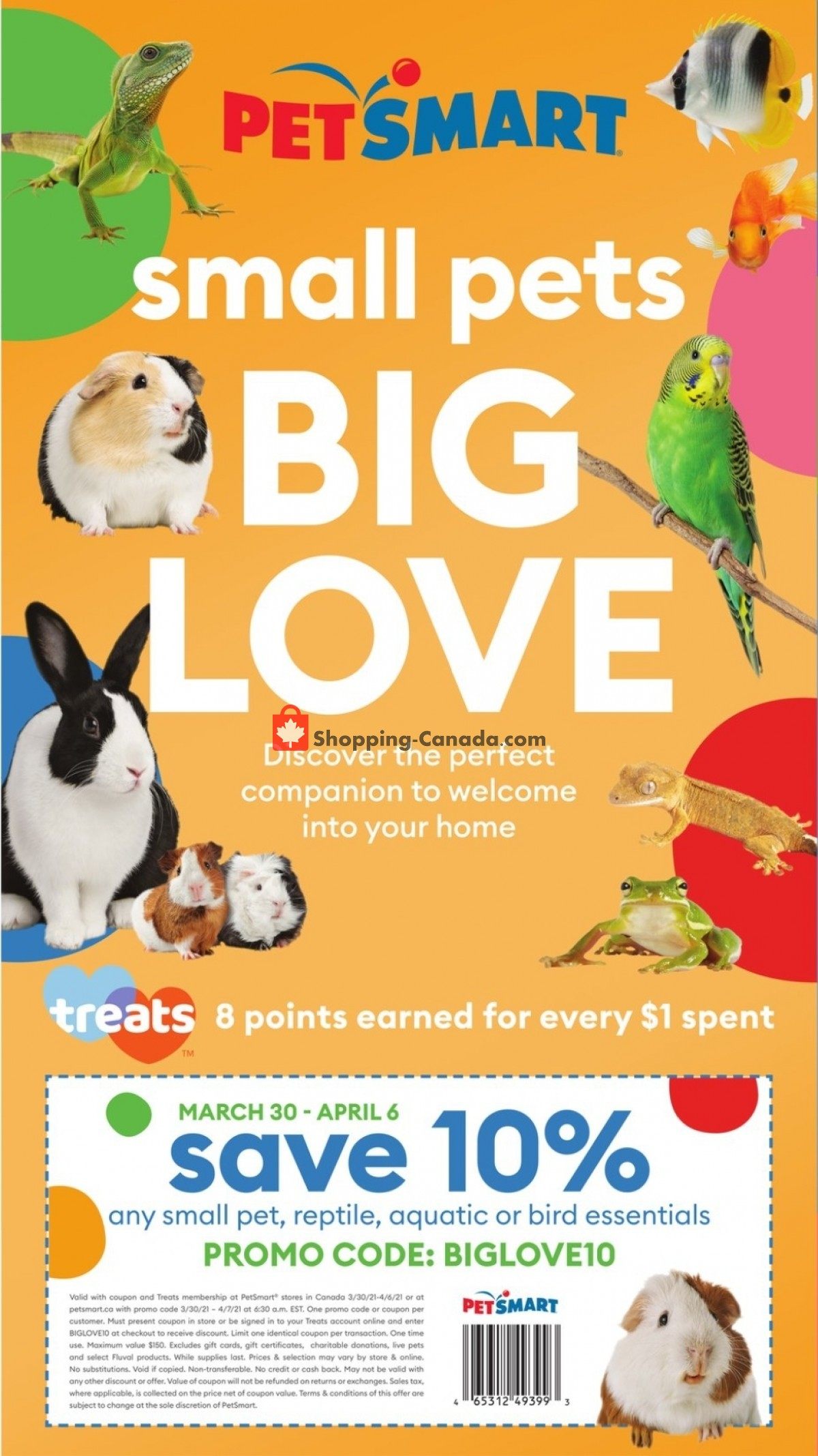 Flyer PetSmart Canada - from Monday March 22, 2021 to Sunday April 11, 2021