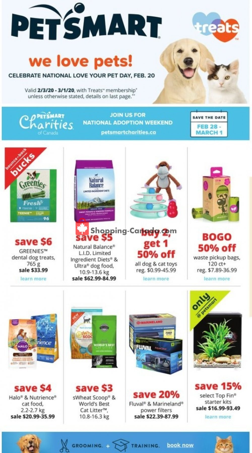 Flyer PetSmart Canada - from Monday February 3, 2020 to Sunday March 1, 2020