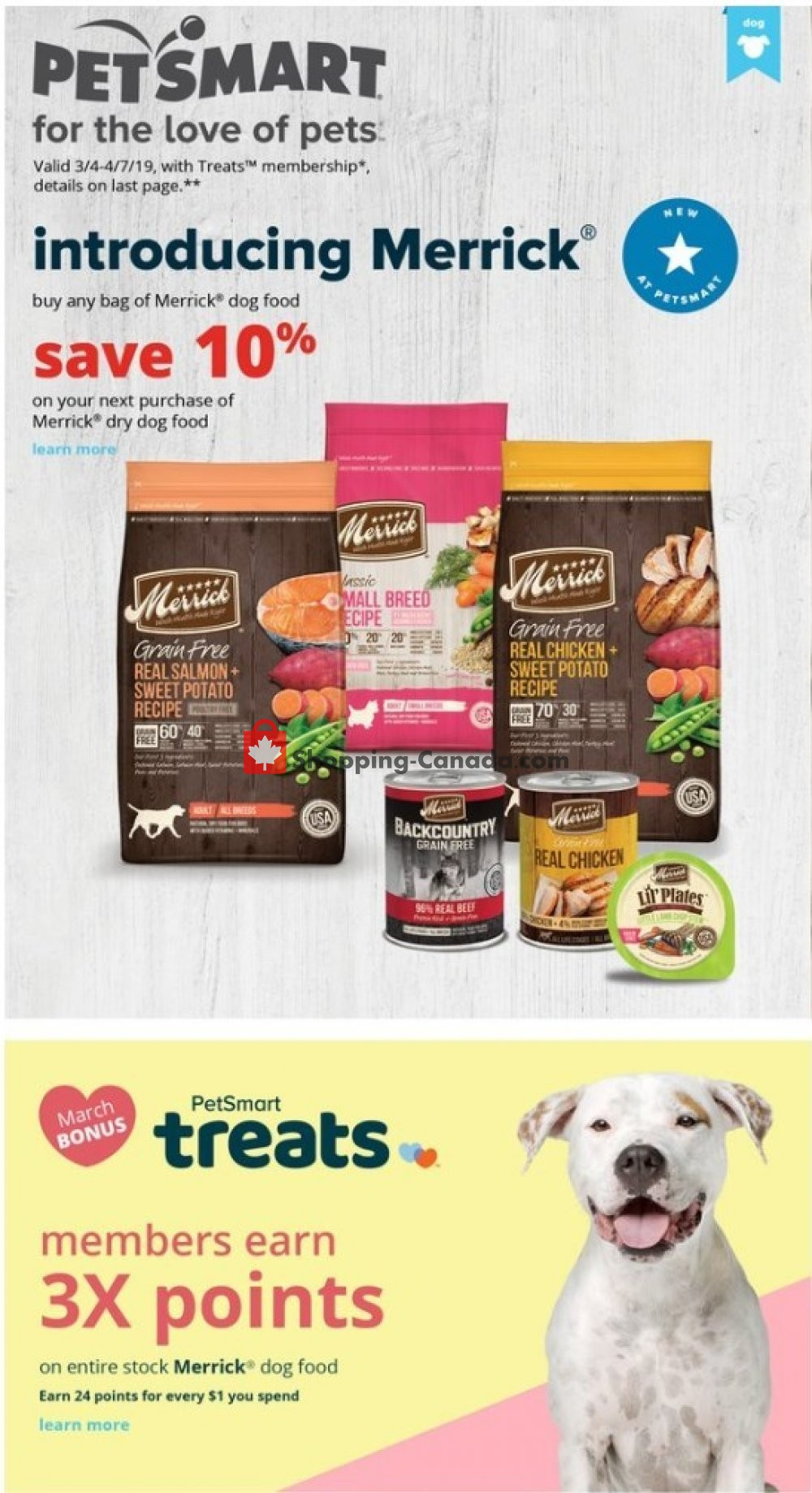 Flyer PetSmart Canada - from Monday March 4, 2019 to Sunday April 7, 2019