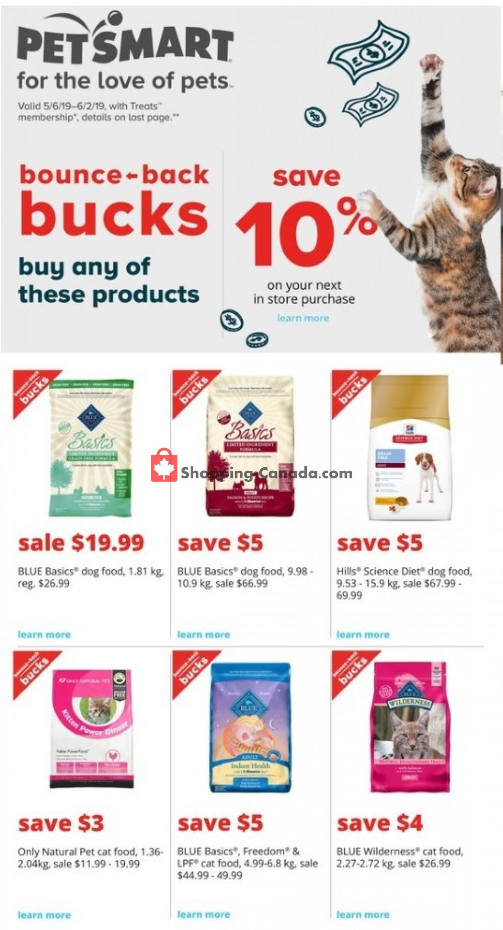 Flyer PetSmart Canada - from Sunday May 5, 2019 to Saturday June 1, 2019
